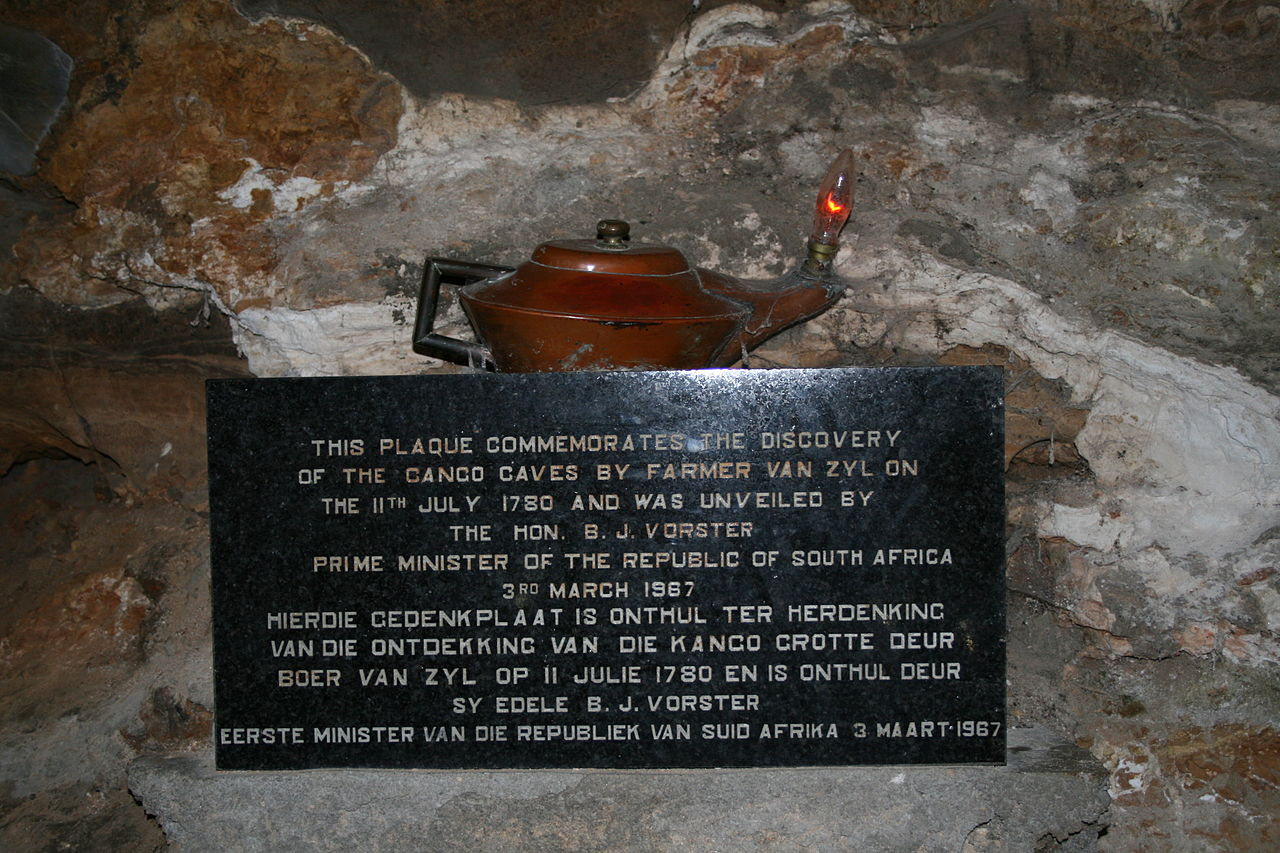Cango Caves Plaque